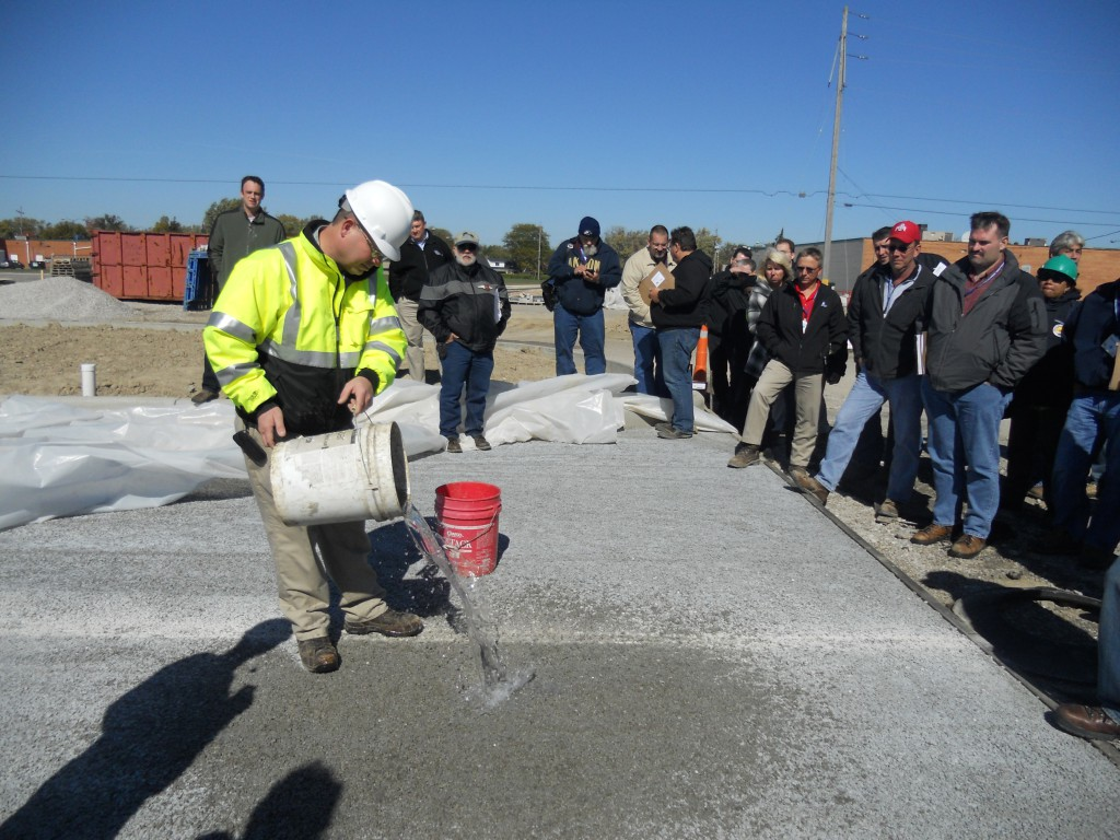 Pervious Concrete dry and functioning